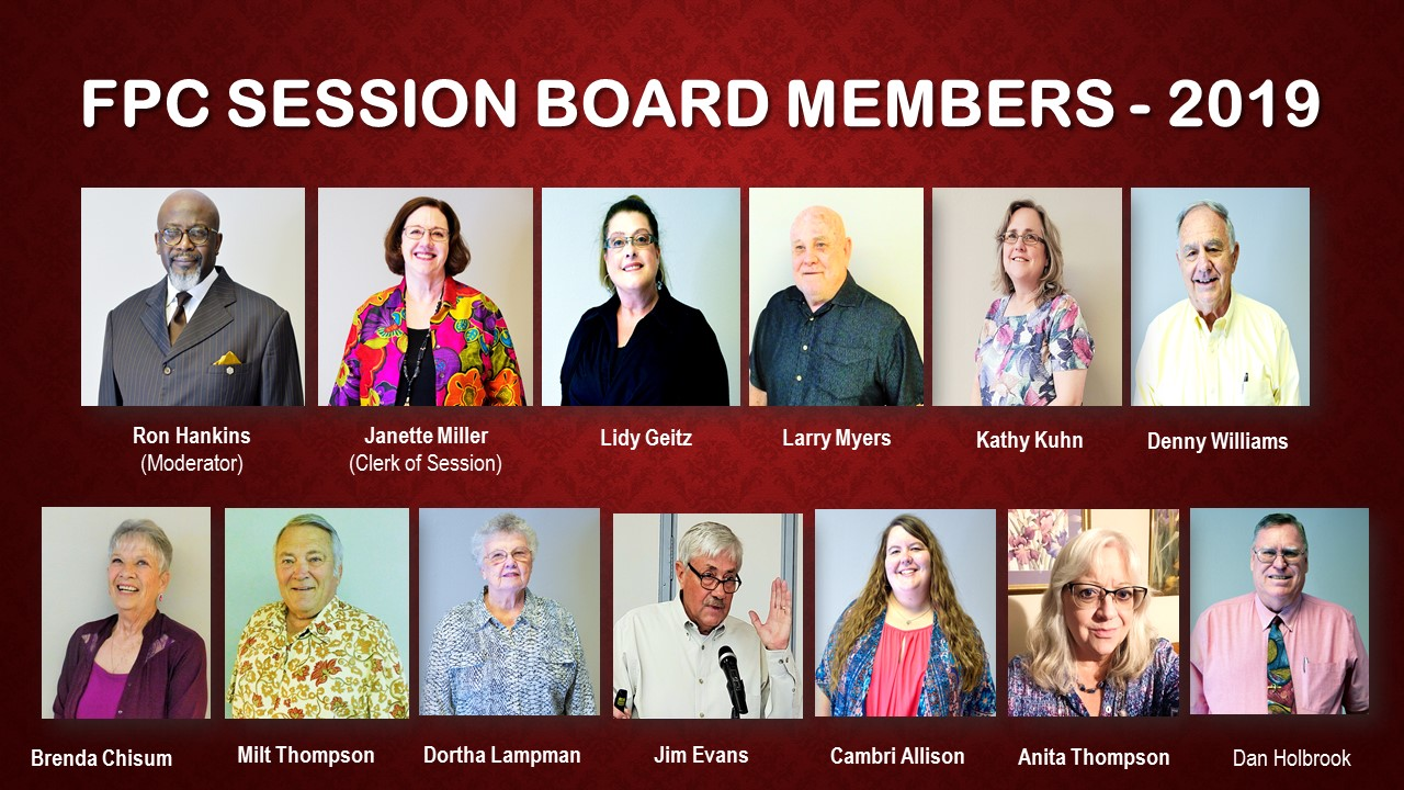 FPC Session Board Members - 2019 (Cranberry Background)
